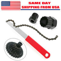 Bicycle Cassette Freewheel Chain Wrench Sprocket Lock Remover Tool Kit Bike