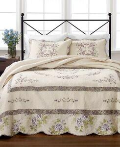 $240.00  Martha Stewart Collection Midland Vine 100% Cotton Bedspread, Queen
