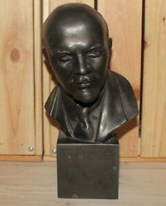 Vintage Soviet Russian hand made metal figurine Vladimir Lenin