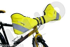 Biker's muff - all weather hand protection, hand warmers.Handlebar Gloves Yellow