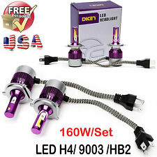 Super Bright  H4 9003 HB2 160W COB LED Car Headlight Lamp Conversion Bulb 6000K