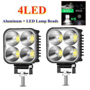 """3"""" Car Work Lights Spot Flood Light Bar 4LED Lamp Beads 12W 12V-60V 2-wire 6500K"""