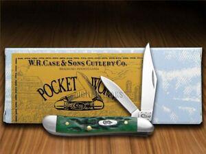 Case xx Peanut Knife Pocket Worn Jigged Bermuda Green Bone 09726