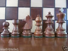 """BRAND NEW ♚  GERMAN KNIGHT SHEESHAM/BOXWOOD ♞ WEIGHTED WOODEN CHESS PIECES 3"""""""