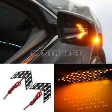 2x Clignotant éclairage Lampe Feux LED 12V Flèche Jaune Pr Voiture Auto Véhicule