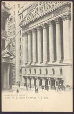 New York Stock Exchange. New York City - c1905 Postcard by The Rotograph Co.