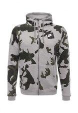 NIKE  Men's  Full-Zip fleece Hoodie 'Camo' AH7019-063 Grey Heather Size MEDIUM