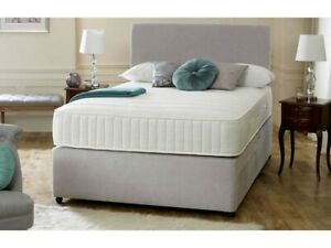 3ft Single Divan Bed And Mattress With drawers 3ft bed size 90cm x 190cm