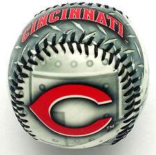 "Cincinnati Reds Baseball--""STEEL"" Design Made of Hard Plastic by Franklin Sports"