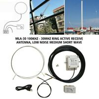 MLA-30 Loop Active Receiving Antenna 100kHz - 30MHz High Gain For Shortwave MW