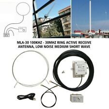 MLA-30 Loop Active Receiving Antenna 100kHz - 30MHz Low Noise For Shortwave MW