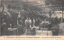 CPA 63 CLERMONT FERRAND ETABLISSEMENT HOUPIN PARTIE ATELIER DES PRESSES (rare