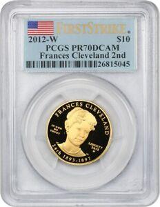 2012-W Frances Cleveland Term 2 $10 PCGS PR 70 DCAM