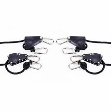 """iPower 2 Pairs of 1/4"""" Heavy Duty Adjustable Rope Hanger with Metal Gear 8'Long"""