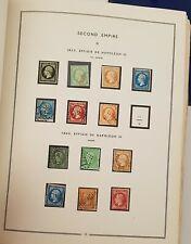 FRANCE: COLLECTION TIMBRES NEUFS/OBLIT 1848-1981 sur pages pré-imprimées MOC