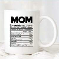 Mom Nutritional Facts Mug Mug717 Funny Mom Mug Gift For Mom New Mom Mug Birthday