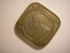 1918 India Two Anna, Great Britain, King George V, KM# 516