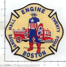 Massachusetts - Boston Engine 24 MA Fire Dept Patch v2 - Grove Hall