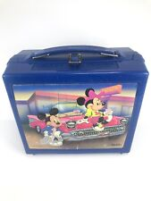 Mickey & Minnie At Pluto's Diner Aladdin Blue Plastic Lunch Box