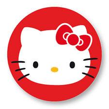"Pin Button Badge Ø25mm 1"" Hello Kitty White Kawaii Japon Paradise Girl Pink Rose"