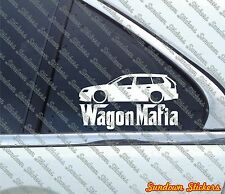 Lowered WAGON MAFIA sticker - for Saab 9-3 SportWagon, SportCombi
