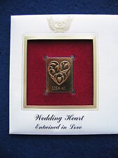 2007 Wedding Heart Entwined in Love Replica FDC FDI 22kt Gold Golden Cover Stamp