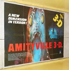 original AMITYVILLE 3-D British U.K. quad poster