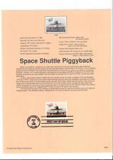 Souvenir Page #3262 Piggyback Space Shuttle $11.75