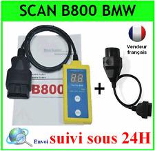 AIRBAG VALISE SCANNER B800 SRS OBD OBD2 ODB2 OBDII DIAG + AVEC ADAPTATEUR BMW