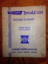 Triumph Herald 1200 Saloon & Coupe Spare Parts Cat.
