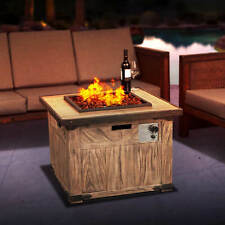 32'' Gas  Fire Pit Table Places Propane Heaters patio outdoor Backyard Garden