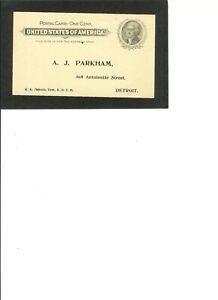 "US Postal Card UX14 UNUSED  F-VF  139 x 82 mm 1897 issue ""Jefferson"" Pre Printed"