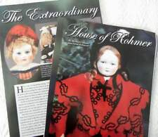 17p History Article & Pics Antique House of Rohmer French Fashion Dolls