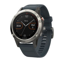 Garmin Fenix 5 Silver with Granite Blue Band GPS Multisport Watch