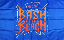Wcw Bash at the Beach Flag 3x5 ft Blue Banner Ppv 1996 Man-Cave Garage New