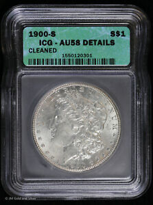 1900 S Morgan Silver Dollar ICG AU 58 Details