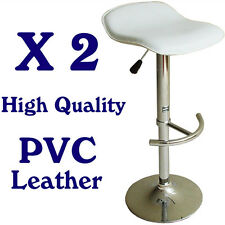 Bar Stools Chairs Kitchen Stools Chairs PVC Leather White