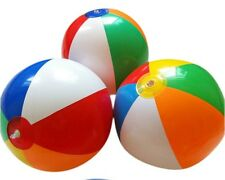 """1X Colorful Inflatable Volleyball Beach Ball PVC Toy Kids Party Fun Favors 16"""""""