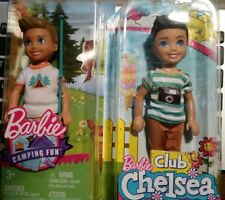 Lot of 2 BARBIE CLUB CHELSEA and CAMPING FUN BOY Ryan Tommy Kelly Sized Doll New