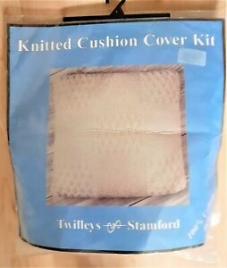 """Knitted cushion cover kit By Twilleys  Suitable for 14"""" - 16"""" pad Cotton DK"""
