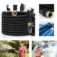 75/100 ft Expandable Garden Hose Flexible Expanding Water Hose with Spray Nozzle