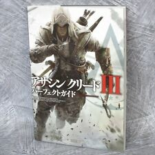 ASSASIN'S CREED III 3 Perfect Guide Book PS3 Xbox EB78*