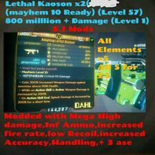Borderlands 3 - (ps4) Kaoson x2 (All Elements(Mega high damage)Level 1)(S.J Mods