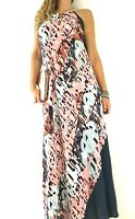 Next Maxi Dress Multicoloured Slip Bias Cut Wedding Guest Occasion Party Size 10