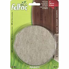 Madico ECO FELTAC FLOOR PROTECTION PADS 102mm 4Pcs Round, Sticking Power BEIGE