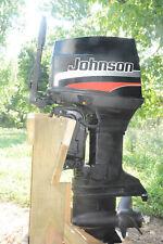 60 hp Commercial Johnson Tiller TT Outboard Motor