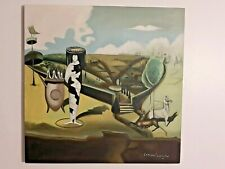 L. CARRINGTON VINTAGE HANDMADE OIL PAINTING ON CANVAS,SIGNED,W/GALLERY STAMPS