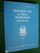 Triumph TR4 & TR4a SPORTS CAR FACTORY Workshop REPAIR & OPERATION Manual 1961-66