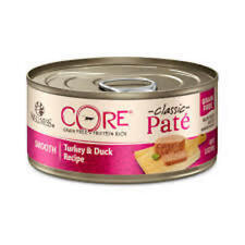 Wellness CORE Natural Grain Free Turkey/Duck Pate Wet Can Cat Food 5.5oz-case 24