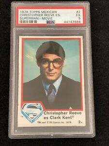 1978 TOPPS superman the movie  PSA 5 MEXICAN CARD ( #2)